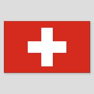 Switzerland Flag Sticker (Rectangle)