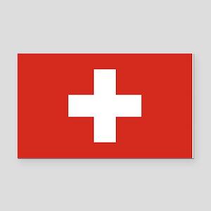 Switzerland Flag Rectangle Car Magnet