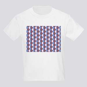 allover graphic blue brown T-Shirt