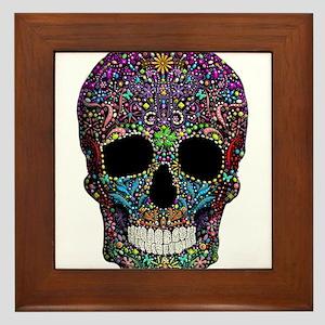 Colorskull on Black Framed Tile
