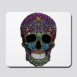 Colorskull on Black Mousepad
