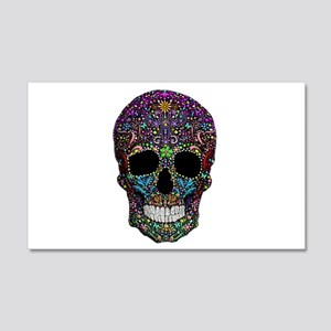 Colorskull on Black Wall Decal
