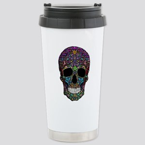 Colorskull on Black Travel Mug