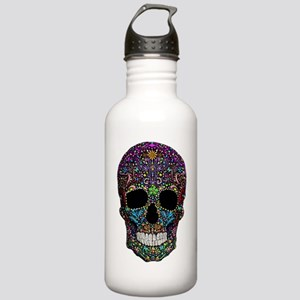 Colorskull on Black Water Bottle