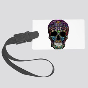 Colorskull on Black Luggage Tag