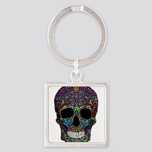 Colorskull on Black Keychains
