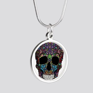 Colorskull on Black Necklaces
