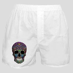 Colorskull on Black Boxer Shorts