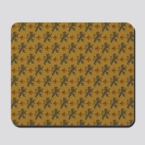 Rampant Lions And Fleurs Mousepad