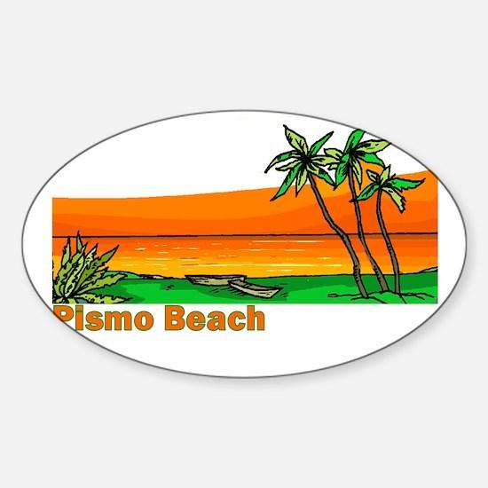 Pismo Beach, California Oval Decal