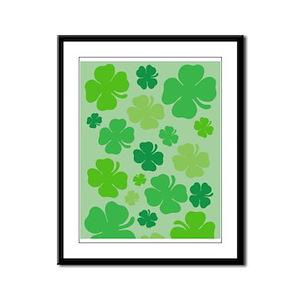 Lucky Green Clover Framed Panel Print