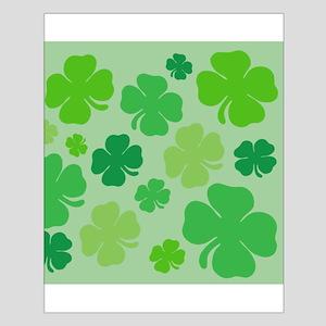 Lucky Green Clover Poster Design