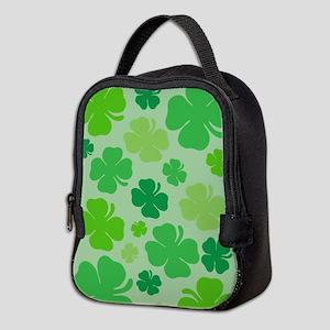 Lucky Green Clover Neoprene Lunch Bag