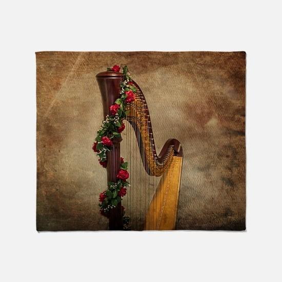 Harp Throw Blanket