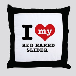 I love my Red Eared Slider Throw Pillow