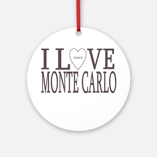 I Love Monte Carlo Ornament (Round)