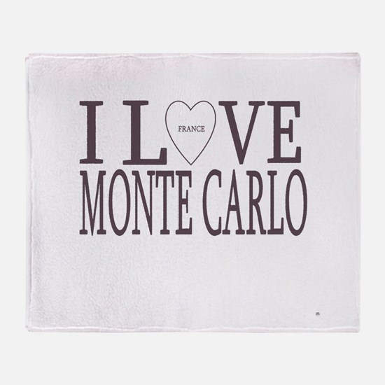 I Love Monte Carlo Throw Blanket