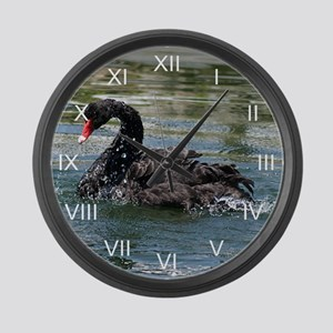 Black Swan Aqua Large Wall Clock