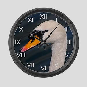 Mute Swan Portrait Large Wall Clock