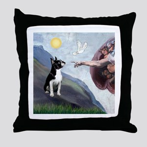Creation of a Boston Ter Throw Pillow
