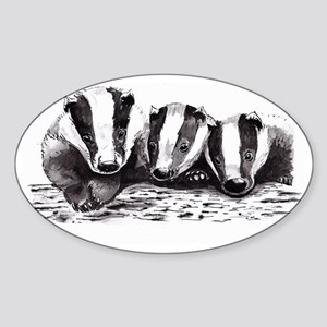 Badgers Sticker (Oval)