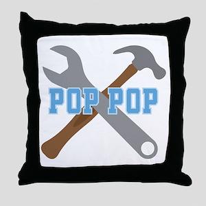 Pop Pop (tools) Throw Pillow