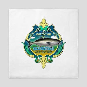 Personalized Bluefish Trophy Queen Duvet