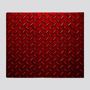 Red Diamond Plate Throw Blanket