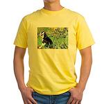 Irises & Boston Ter Yellow T-Shirt