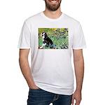 Irises & Boston Ter Fitted T-Shirt
