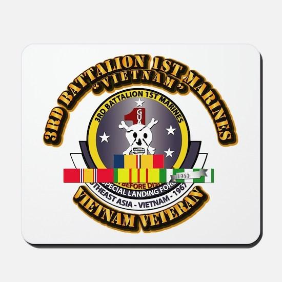 SSI - 3rd Bn - 1st Marines w VN SVC Ribbon Mousepa