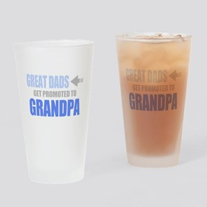 Promoted to Grandpa Drinking Glass