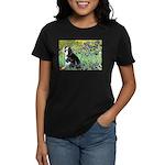 Irises & Boston Ter Women's Dark T-Shirt