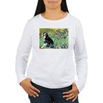 Irises & Boston Ter Women's Long Sleeve T-Shirt
