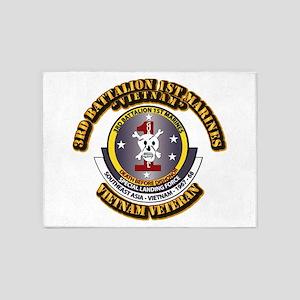 SSI - 3rd Battalion - 1st Marines USMC VN 5'x7'Are