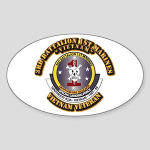 SSI - 3rd Battalion - 1st Marines USMC VN Sticker
