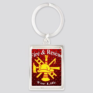 Fire and Rescue For Life Keychains