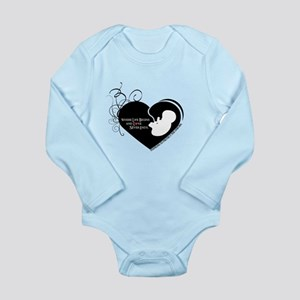 Where Love Begins Pro Life Long Sleeve Infant Body