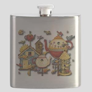 Garden Tea Party Flask