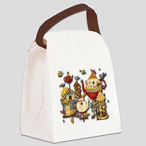 Garden Tea Party Canvas Lunch Bag