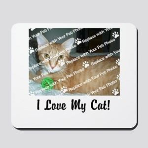 CUSTOMIZE Add Photo Love Cat Mousepad