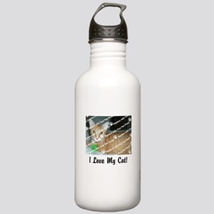 CUSTOMIZE Add Photo Love Cat Stainless Water Bottl