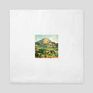 Mont Sainte-Victoire by Cezanne Queen Duvet