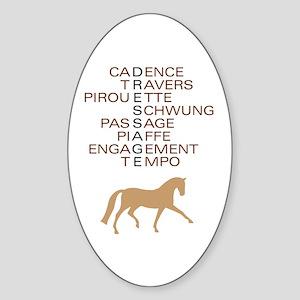 dressage speak Oval Sticker