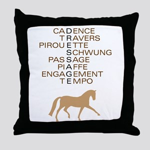 dressage speak Throw Pillow