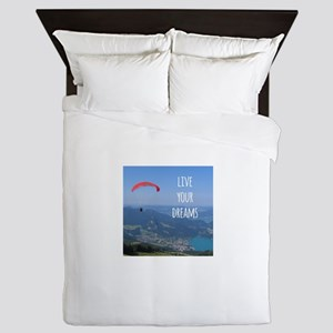 Live your Dreams and fly Queen Duvet