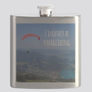 Id Rather Be Paragliding Flask