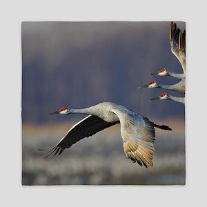 Cranes Queen Duvet