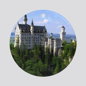 Neuschwanstein Castle Ornament (Round)