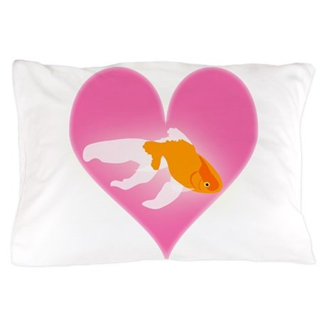 Goldfish Love Pillow Case